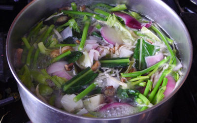 Winter Cleanse Soup with Burdock, Dandelion, and Kombu