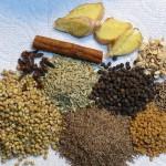 Coriander, Black Cumin, Fenugreek, Fennerl, Cumin, Clove, Cinnamon, Black Peppercorn, Fresh Ginger, Dry Ginger